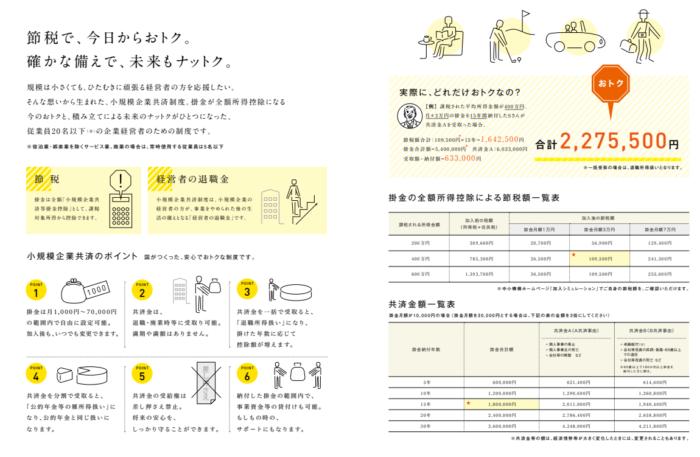 小規模企業共済パンフレット